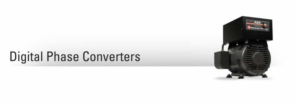 Digital phase converter on grey gradient background.